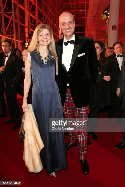 Andreas Englert Frau im Spiegel and his partner Dr Claudia von Zieten during the Goldene Kamera reception at Messe Hamburg on March 4 2017 in Hamburg...