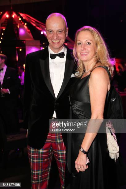 Andreas Englert Frau im Spiegel and Kirsten La Tour during the Goldene Kamera after show party at Messe Hamburg on March 4 2017 in Hamburg Germany
