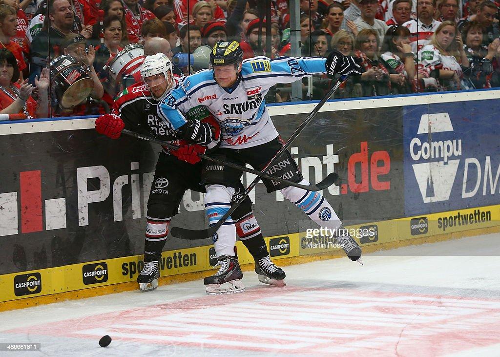 Koelner Haie v ERC Ingolstadt - 2014 DEL Playoffs Game 5 : News Photo