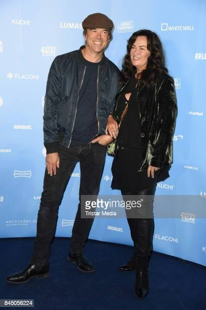 Andreas Frege aka Campino of the band Die Toten Hosen and Gabriele OestreichTrivellini aka Gabo attend the 'Gabo Fame presented by Lumas' Exhibition...