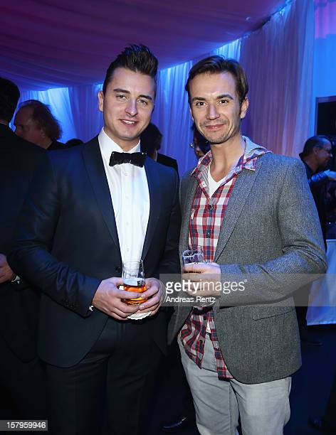 Andreas Gabalier and Florian Silbereisen attend the after show party to the Andrea Berg 'Die 20 Jahre Show' on December 6, 2012 in Offenburg, Germany.