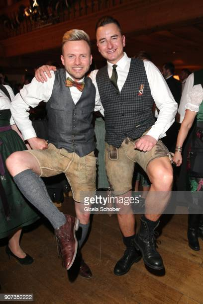 Andreas Gabalier and his brother Willi Gabalier during the 27th Weisswurstparty at Hotel Stanglwirt on January 19 2018 in Going near Kitzbuehel...