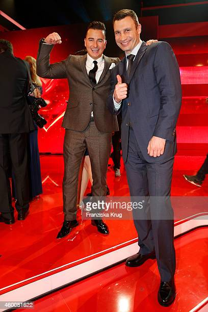 Andreas Gabalier and Vitali Klitschko attend the Ein Herz Fuer Kinder Gala 2014 - Party on December 6, 2014 in Berlin, Germany.