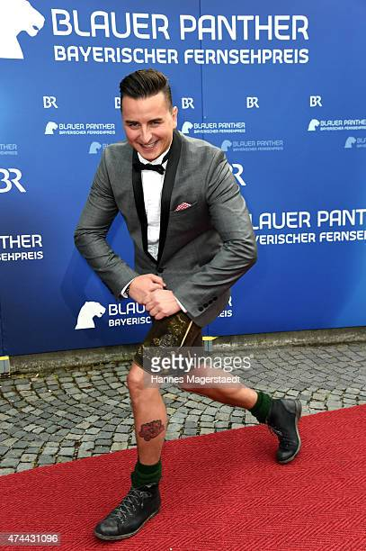 Andreas Gabalier arrives for the Bayerischer Fernsehpreis 2015 at Prinzregententheater on May 22 2015 in Munich Germany