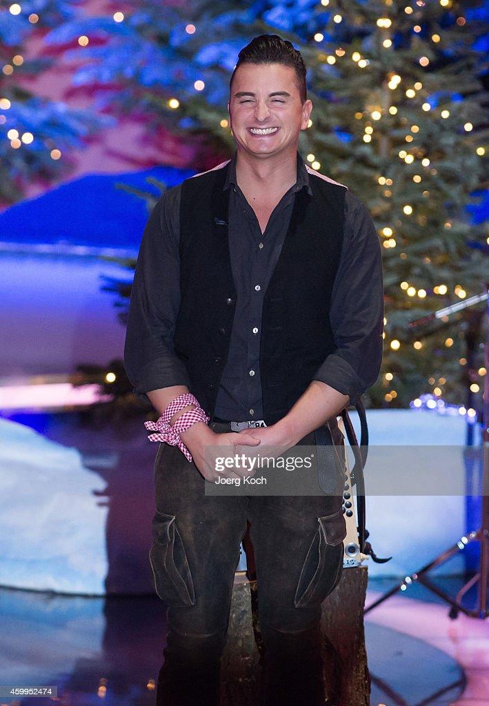 Andreas Gabalier attends the TV show 'Die schönsten Weihnachtshits' on December 4, 2014 in Munich, Germany.