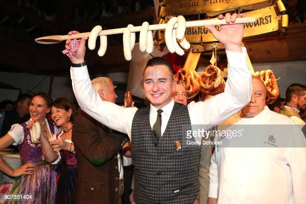 Andreas Gabalier during the 27th Weisswurstparty at Hotel Stanglwirt on January 19 2018 in Going near Kitzbuehel Austria