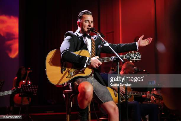 Andreas Gabalier performs during the 14th Semper Opera Ball 2019 at Semperoper on February 1 2019 in Dresden Germany