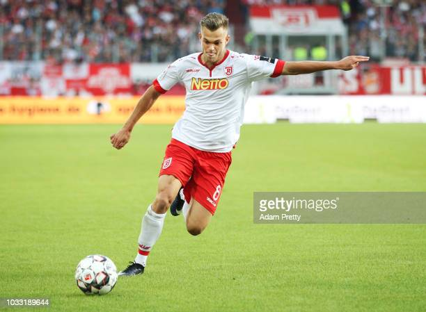 Andreas Geipl of Jahn Regensburg in action during the Second Bundesliga match between SSV Jahn Regensburg and SG Dynamo Dresden at Continental Arena...