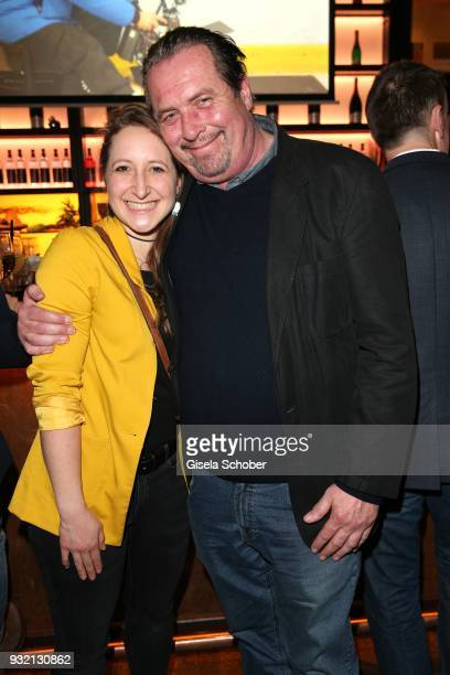 Andreas Giebel and his daughter Sarah Giebel during the NdF after work press cocktail at Parkcafe on March 14 2018 in Munich Germany