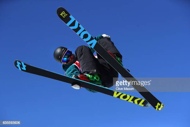 Andreas Gohl of Austria in action during the FIS Freestyle World Cup Ski Halfpipe Qualification at Bokwang Snow Park on February 16 2017 in...