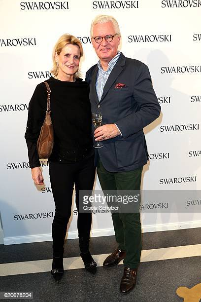 Andreas Graf Rittberg and his wife Christiane Graefin Rittberg during the Swarovski World Jewelry Facets exhibition at Villa Wagner on November 2...