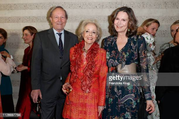 Andreas Graf von Hardenberg Isa von Hardenberg and Tita von Hardenberg during the Veuve Clicquot Business Woman Award 2019 at French Embassy on March...