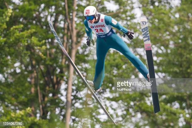 Andreas Granerud Buskum during the FIS Ski Jumping Summer Grand Prix in Wisla, Poland, on July 18, 2021.