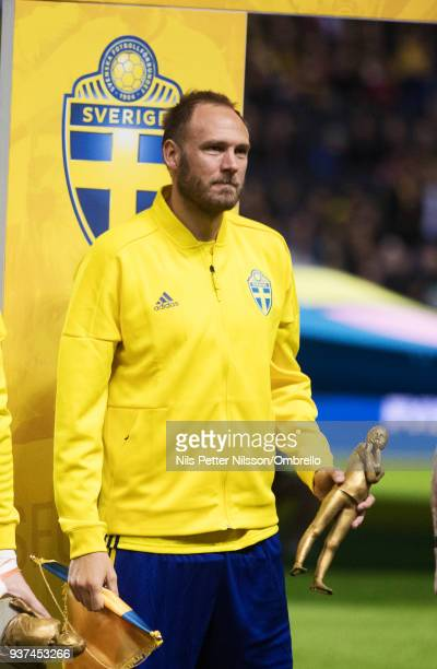 Andreas Granqvist of Sweden ahead of the International Friendly match between Sweden and Chile at Friends arena on March 24 2018 in Solna Sweden