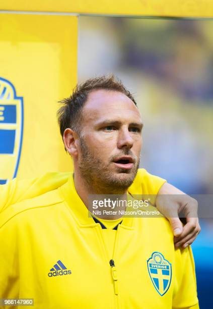 Andreas Granqvist of Sweden ahead of the International Friendly match between Sweden and Denmark at Friends Arena on June 2 2018 in Solna Sweden