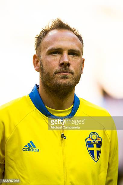 Andreas Granqvist of Sweden during an international friendly between Sweden and Wales at Friends Arena on June 5 2016 in Stockholm Sweden