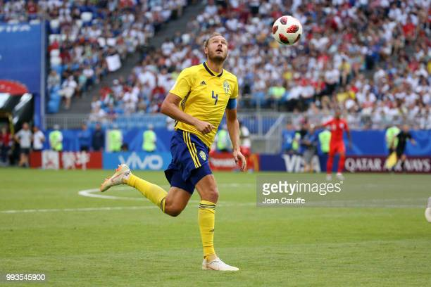 Andreas Granqvist of Sweden during the 2018 FIFA World Cup Russia Quarter Final match between Sweden and England at Samara Arena on July 7 2018 in...