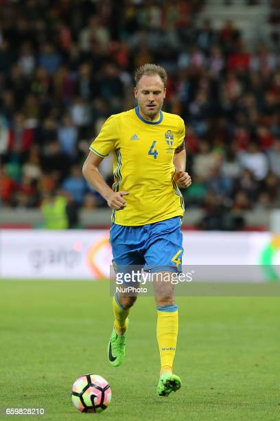Andreas Granqvist of Sweden during the FIFA 2018 World Cup friendly match between Portugal v Sweden at Estadio dos Barreiros on March 28 2017 in...