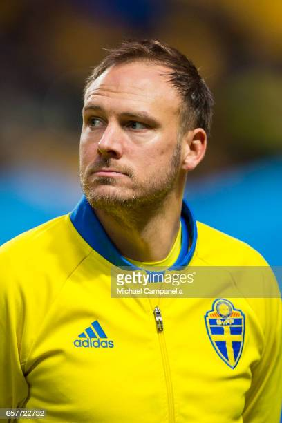 Andreas Granqvist of Sweden during the FIFA 2018 World Cup Qualifier between Sweden and Belarus at Friends arena on March 25 2017 in Solna Sweden