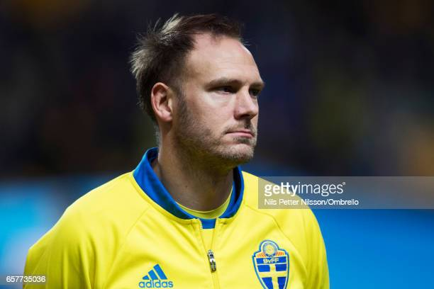 Andreas Granqvist of Sweden during the FIFA 2018 World Cup Qualifier between Sweden and Belarus at Friends arena on March 25 2017 in Solna