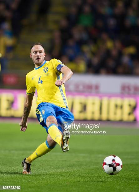 Andreas Granqvist of Sweden during the FIFA 2018 World Cup Qualifier between Sweden and Luxembourg at Friends Arena on October 7 2017 in Solna Sweden