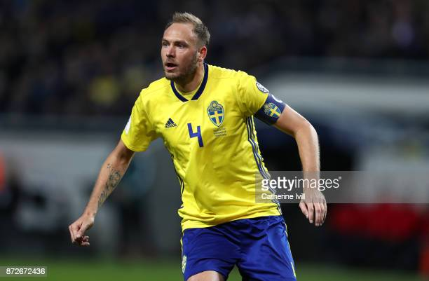 Andreas Granqvist of Sweden during the FIFA 2018 World Cup Qualifier PlayOff First Leg between Sweden and Italy at Friends arena on November 10 2017...
