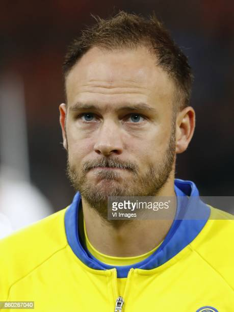 Andreas Granqvist of Sweden during the FIFA World Cup 2018 qualifying match between The Netherlands and Sweden at the Amsterdam Arena on October 10...