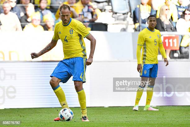 Andreas Granqvist of Sweden during the international friendly between Sweden and Wales at Friends Arena on June 5 2016 in Solna Sweden
