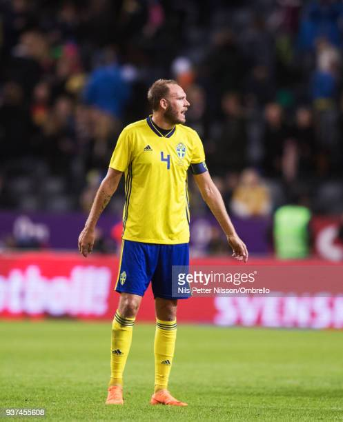 Andreas Granqvist of Sweden during the International Friendly match between Sweden and Chile at Friends arena on March 24 2018 in Solna Sweden