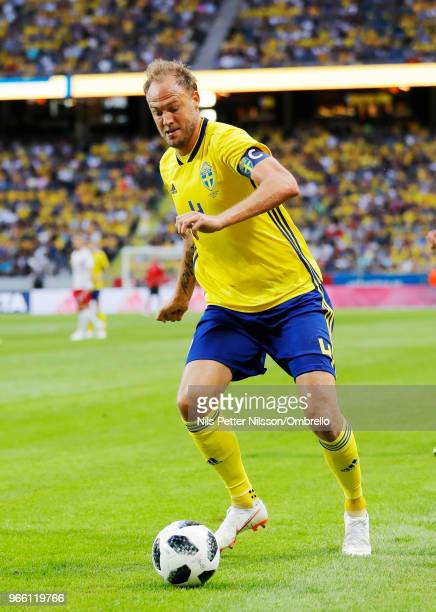 Andreas Granqvist of Sweden during the International Friendly match between Sweden and Denmark at Friends Arena on June 2 2018 in Solna Sweden