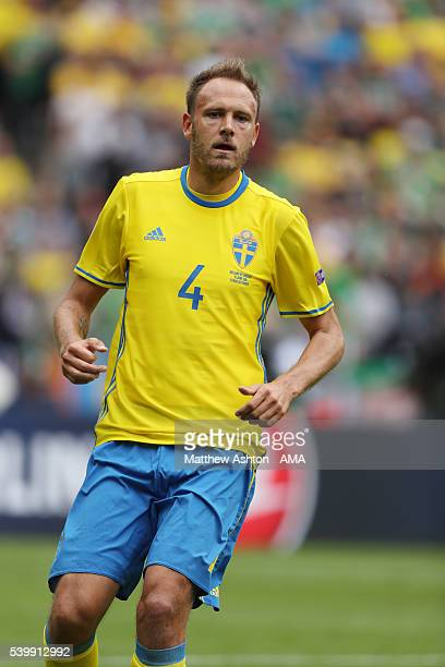 Andreas Granqvist of Sweden during the UEFA EURO 2016 Group E match between Republic of Ireland and Sweden at Stade de France on June 13 2016 in...