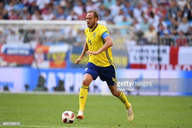 Andreas Granqvist of Sweden in action during the 2018 FIFA World Cup Russia Quarter Final match between Sweden and England at Samara Arena on July 7...