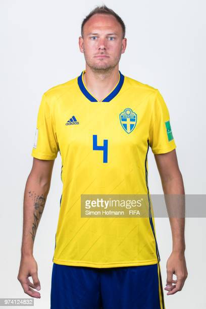 Andreas Granqvist of Sweden poses during the official FIFA World Cup 2018 portrait session on June 13 2018 in Gelendzhik Russia