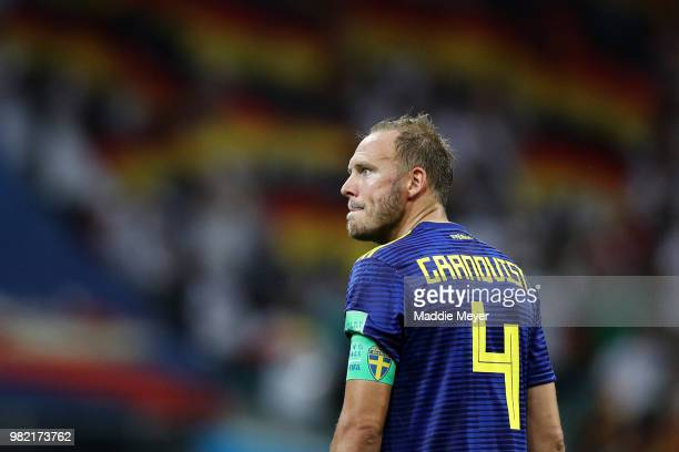 Andreas Granqvist of Sweden shows his dejection following the 2018 FIFA World Cup Russia group F match between Germany and Sweden at Fisht Stadium on...