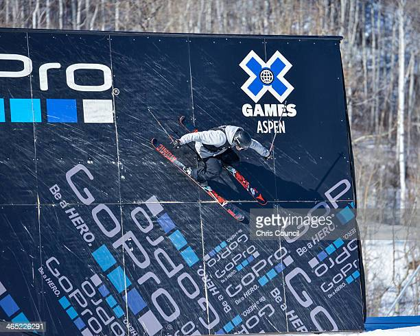 Andreas Hatveit competes in the men's ski slopestyle final Winter XGames 2014 en route to earning the bronze medal at Buttermilk Mountain on January...