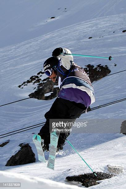 Andreas Hatveit from Norway rides the Slopestyle during the Men Ski Slopestyle qualifications of the Winter XGames Europe on March 14 2012 in Tignes...