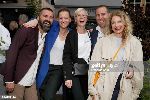 Andreas Haumesser Jenny Falckenberg Soraya Kuehne Joerg Bernicken and Sue Giers attend the 'Krug Kiosk' Event on July 11 2017 in Hamburg Germany