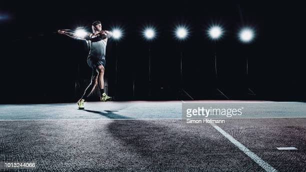 Andreas Hofmann of MTG Mannheim poses during a portrait session at Michael-Hoffmann-Stadion on April 7, 2018 in Mannheim, Germany.