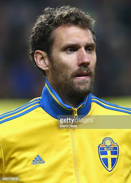 Andreas Isaksson goalkeeper of Sweden looks on before the FIFA 2014 World Cup Qualifier Playoff Second Leg match between Sweden and Portugal at...