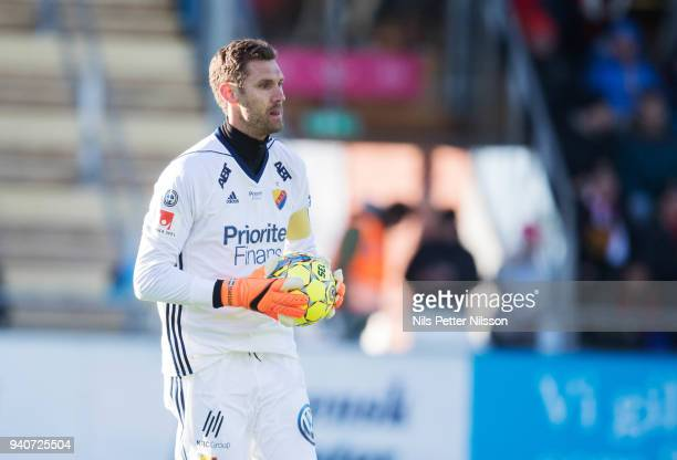 Andreas Isaksson of Djurgardens IF during the Allsvenskan match between Ostersunds FK and Djurgardens IF at Jamtkraft Arena on april 1 2018 in...