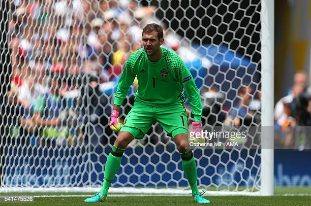 Andreas Isaksson of Sweden during the UEFA EURO 2016 Group E match between Italy and Sweden at Stadium Municipal on June 17 2016 in Toulouse France