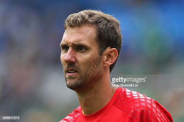 Andreas Isaksson of Sweden looks on during the UEFA Euro 2016 Group E match between Republic of Ireland and Sweden at Stade de France on June 13 2016...