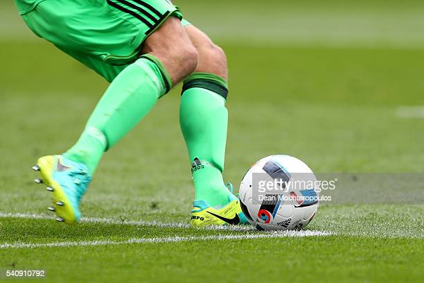 Andreas Isaksson of Sweden takes a goal kick during the UEFA EURO 2016 Group E match between Italy and Sweden at Stadium Municipal on June 17 2016 in...