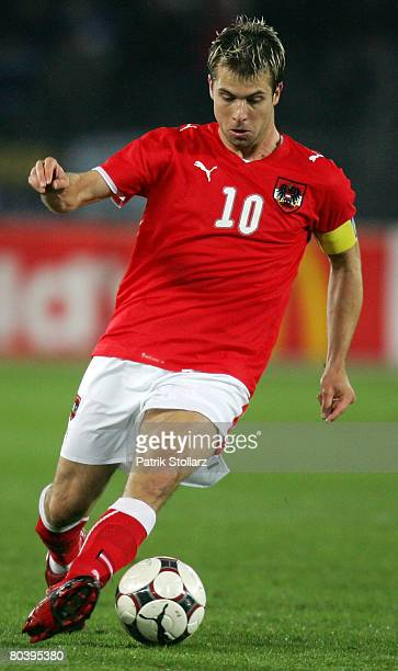 Andreas Ivanschitz of Austria runs with the ball during the international friendly match between Austria and Netherlands at the Ernst Happel stadium...