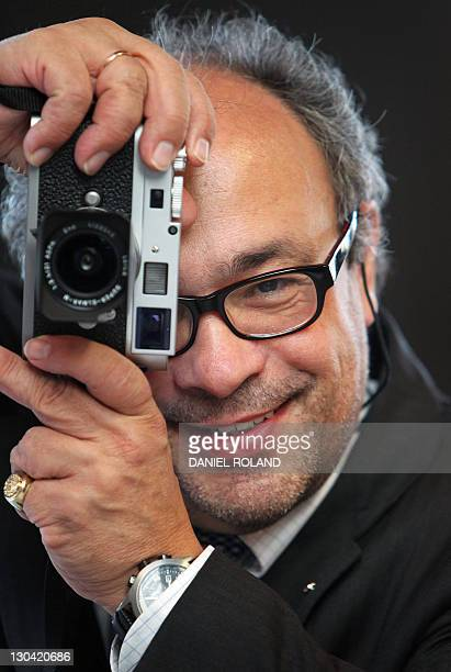 Andreas Kaufmann supervisory board chairman of German camera manufacturer Leica Camera AG poses for a photo at the production facility in Solms...