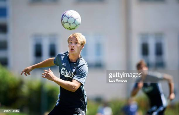 Andreas Kirkeby of FC Copenhagen in action during the friendly match between FC Copenhagen and Lyngby Boldklub at KB's baner on June 27 2018 in...