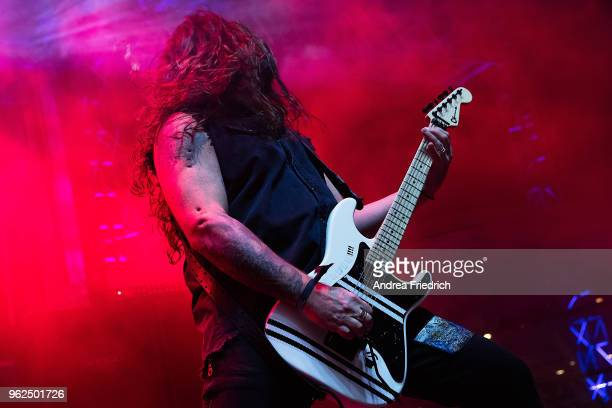 Andreas Kisser of Sepultura performs onboard the cruise liner 'Independence of the Seas' during the '70000 Tons of Metal' Heavy Metal Cruise Festival...