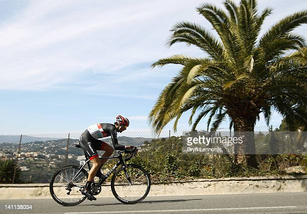 Andreas Klöden of Germany and RadioshackNissan in action during stage eight of the 2012 ParisNice a 96km Individual Time Trial up the Col d'Eze on...