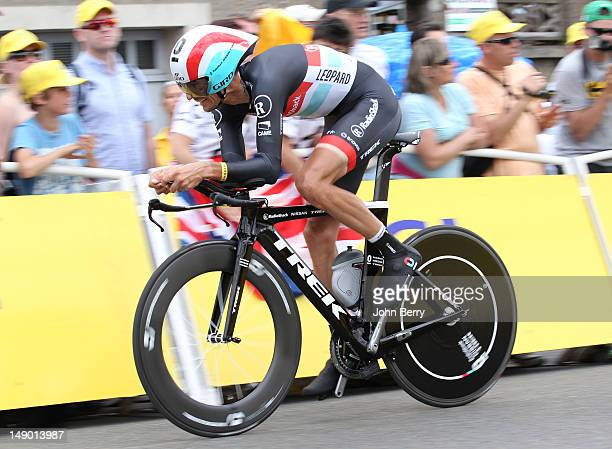 Andreas Kloden of Germany and Radioshack-Nissan in action during stage nineteen of the 2012 Tour de France, a 53.5km time trial from Bonneval to...