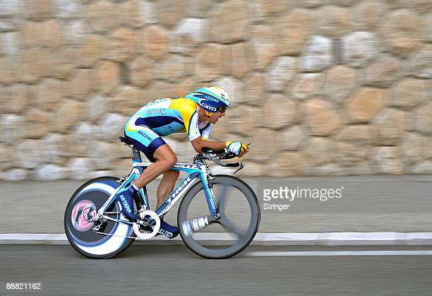 Andreas Kloden of Germany and team Astana in action during the first time trail of the 2009 Tour de France on July 4, 2009 in Monaco, Monaco.